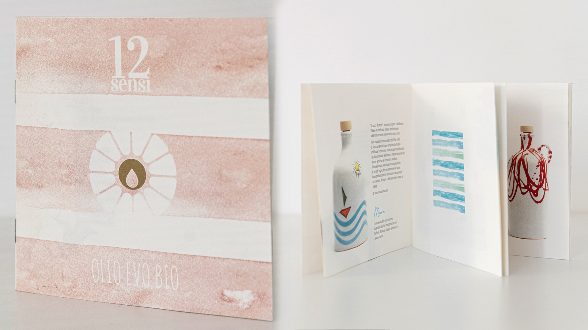 "DESIGN AND PRINT OF COMPANY BROCHURE ""OLIO 12 SENSI"""