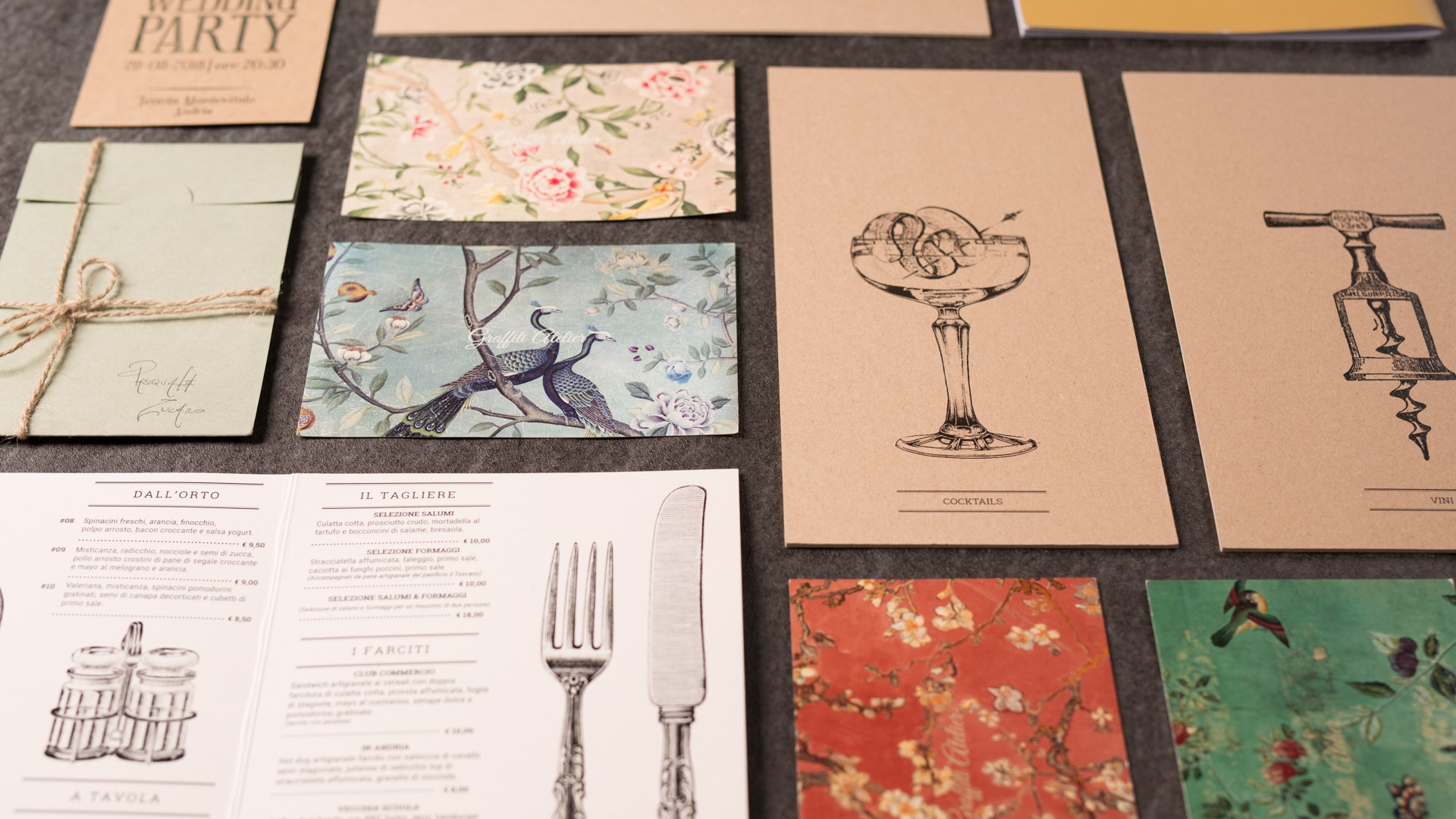 CARDS AND MENUS