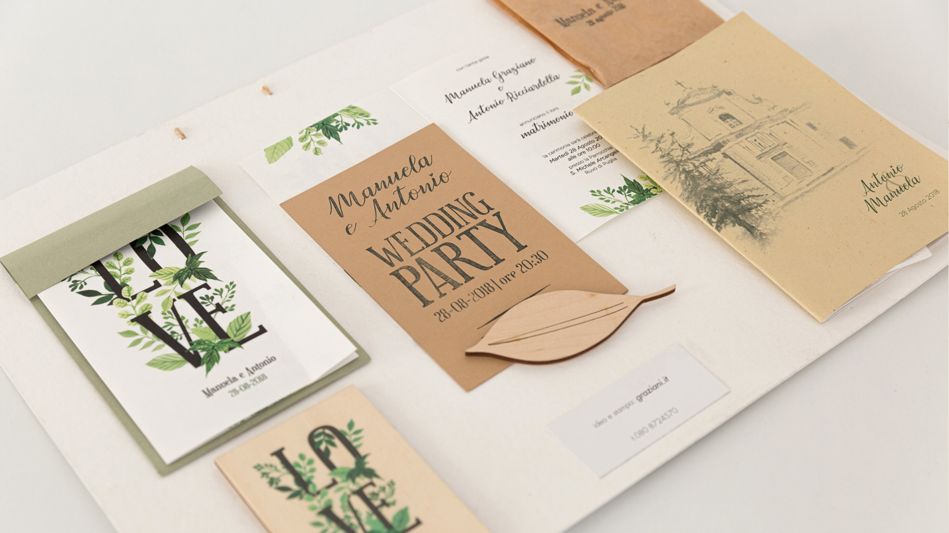 WEDDING INVITATIONS AND STATIONERY ON 400G PAPER